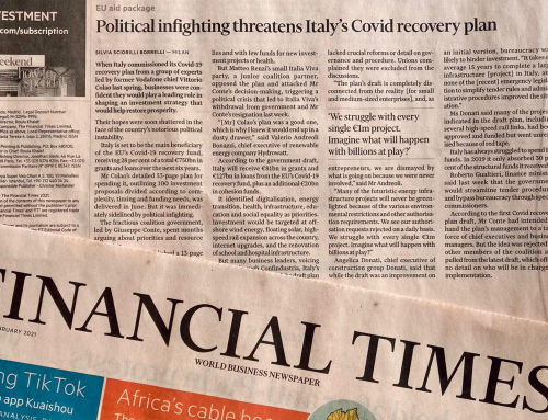 Angelica Donati al Financial Times sul Next Generation EU