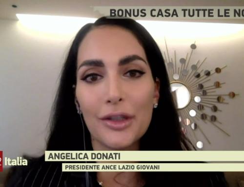 Angelica Donati on TG2 Italia on the Superbonus